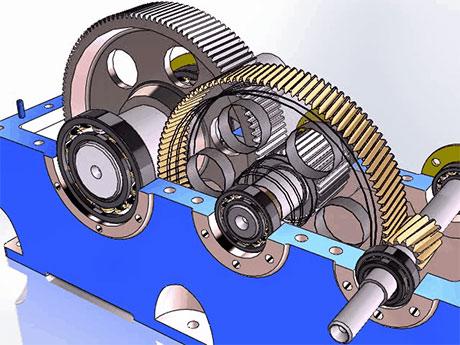 Механический редуктор (цилиндрический)